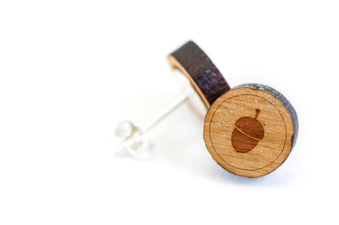 Acorn Wood Earrings