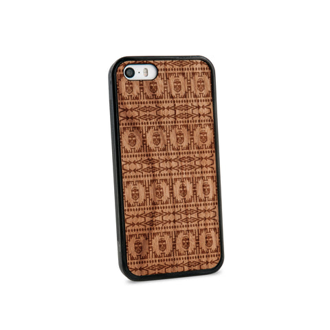 Africa Pattern Natural Wooden iPhone 5/5S Case in American Cherry Wood