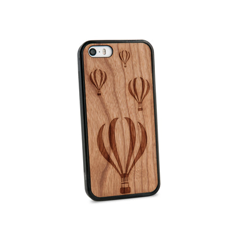Air Balloons Natural Wooden iPhone 5/5S Case in American Cherry Wood