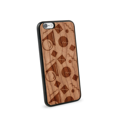 Abstract Pastel Natural Wooden iPhone 6 Case in American Cherry Wood