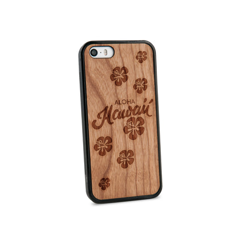 Aloha Hawaii Natural Wooden iPhone 5/5S Case in American Cherry Wood