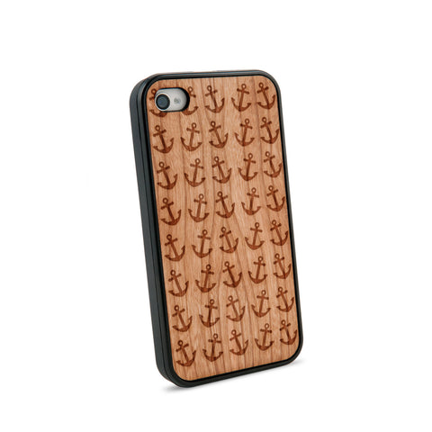 Anchor Multiple Natural Wooden iPhone 4/4S Case in American Cherry Wood