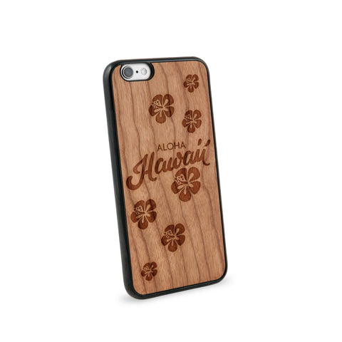 Aloha Hawaii Natural Wooden iPhone 6 Case in American Cherry Wood