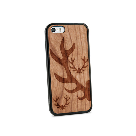 Antlers Natural Wooden iPhone 5/5S Case in American Cherry Wood