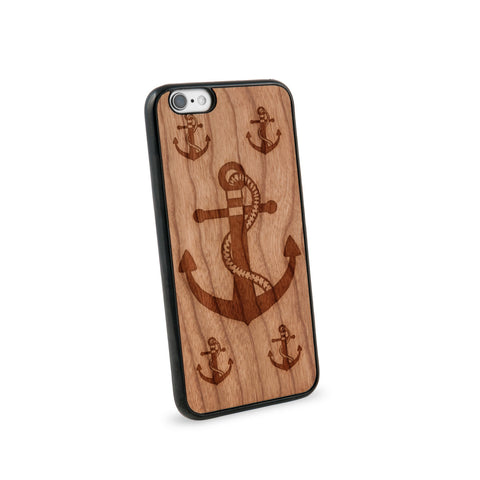 Anchor Rope Natural Wooden iPhone 6 Case in American Cherry Wood