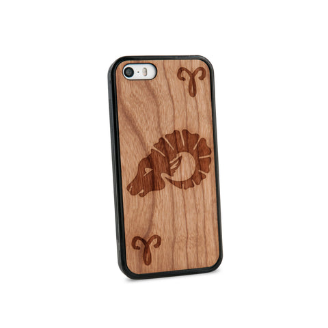 Aries Natural Wooden iPhone 5/5S Case in American Cherry Wood