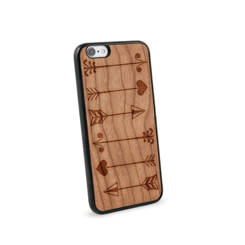 Arrows Multiple Natural Wooden iPhone 6 Case in American Cherry Wood