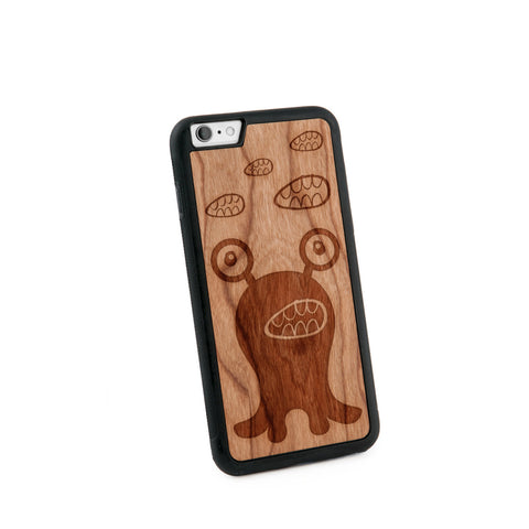 Alien Believe Natural Wooden Iphone 6+ Case in American Cherry Wood