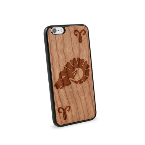 Aries Natural Wooden iPhone 6 Case in American Cherry Wood