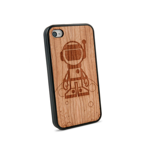 Astronaut Natural Wooden iPhone 4/4S Case in American Cherry Wood