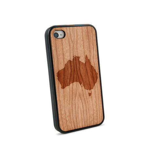 Australia Natural Wooden iPhone 4/4S Case in American Cherry Wood