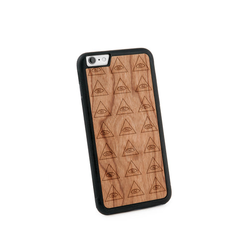 All Seeing Eyes Natural Wooden Iphone 6+ Case in American Cherry Wood