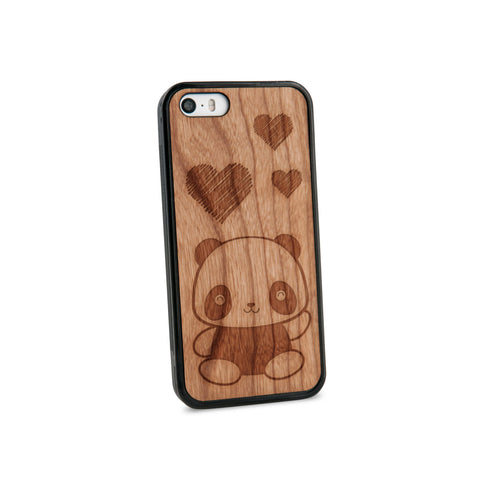 Baby Panda Natural Wooden iPhone 5/5S Case in American Cherry Wood