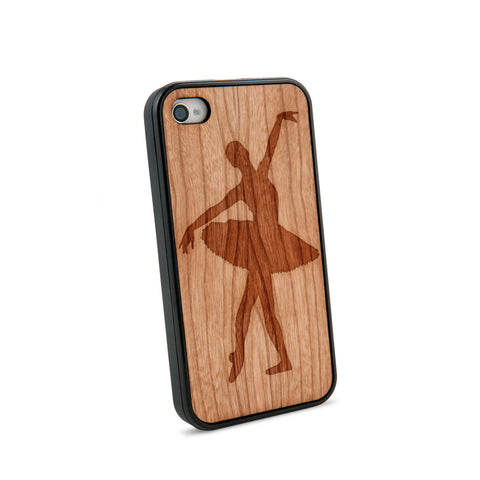 Ballerina Natural Wooden iPhone 4/4S Case in American Cherry Wood
