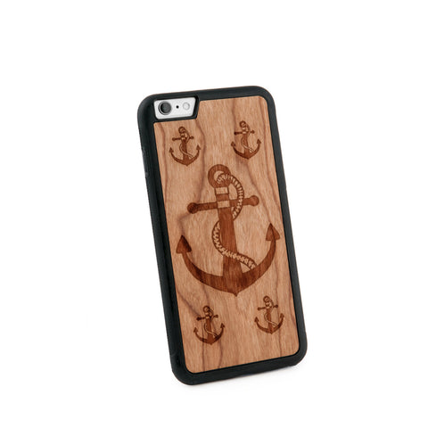 Anchor Rope Natural Wooden Iphone 6+ Case in American Cherry Wood