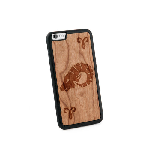 Aries Natural Wooden Iphone 6+ Case in American Cherry Wood