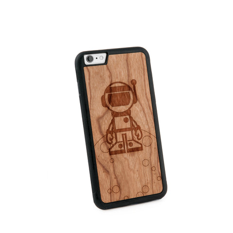 Astronaut Natural Wooden Iphone 6+ Case in American Cherry Wood