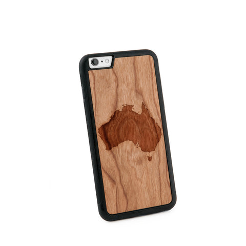 Australia Natural Wooden Iphone 6+ Case in American Cherry Wood
