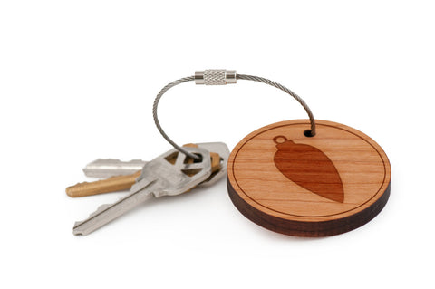 Long Ornament Wood Keychain