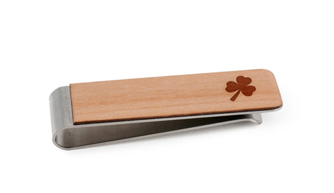 Clover Wood Money Clip
