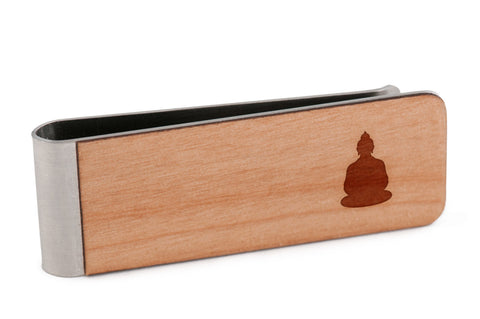 Buddha Wood Money Clip