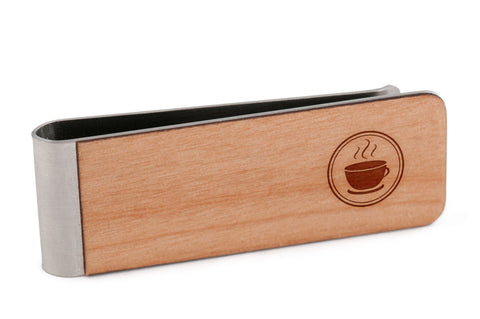 Caffeine Wood Money Clip