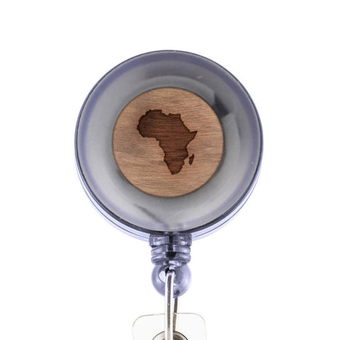 Africa Badge Holder with Retractable Reel and Clip