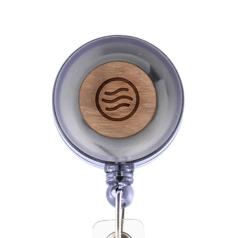 Airwave Badge Holder with Retractable Reel and Clip