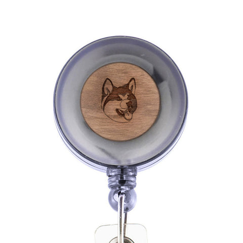 Akita Badge Holder with Retractable Reel and Clip