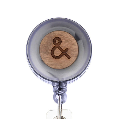 Ampersand Badge Holder with Retractable Reel and Clip