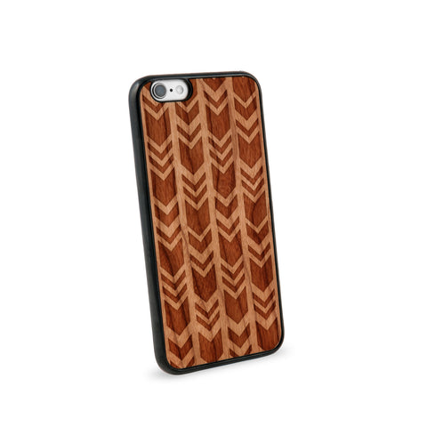 Arrow Chevrons Natural Wooden iPhone 6/6S Case in American Cherry Wood