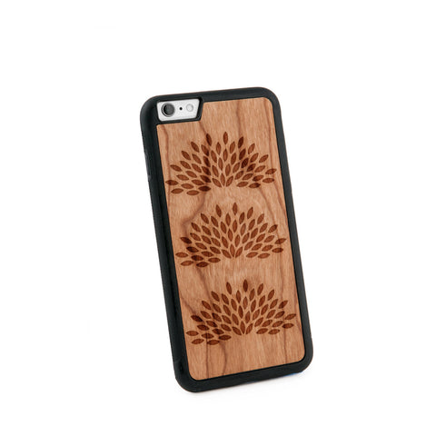 Agave Plant Natural Wooden iPhone 6/6S PLUS Case in American Cherry Wood