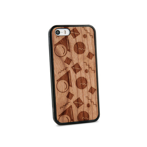 Abstract Pastel Natural Wooden iPhone 5/5S Case in American Cherry Wood