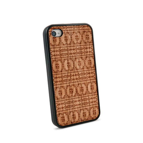 Africa Pattern Natural Wooden iPhone 4/4S Case in American Cherry Wood