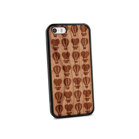 Air Balloons Multi Natural Wooden iPhone 5/5S Case in American Cherry Wood