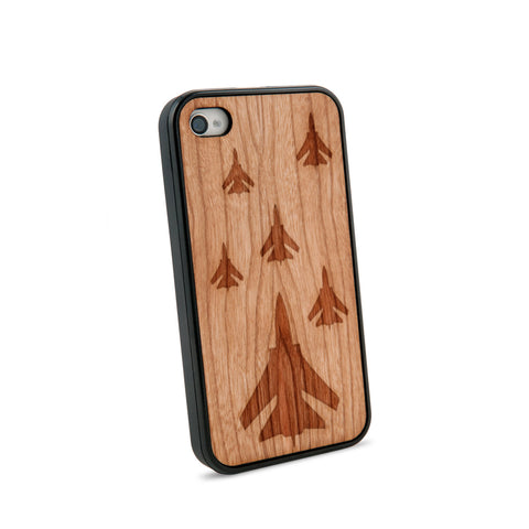 Airforce Natural Wooden iPhone 4/4S Casein American Cherry Wood