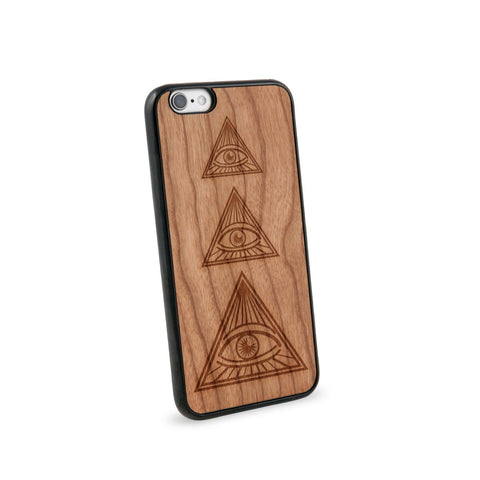 All Seeing Eye Natural Wooden iPhone 6 Case in American Cherry Wood