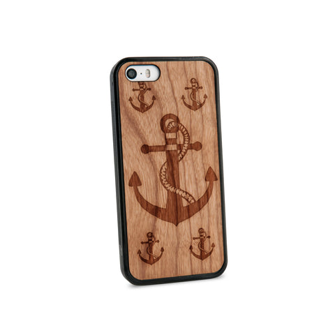 Anchor Rope Natural Wooden iPhone 5/5S Case in American Cherry Wood