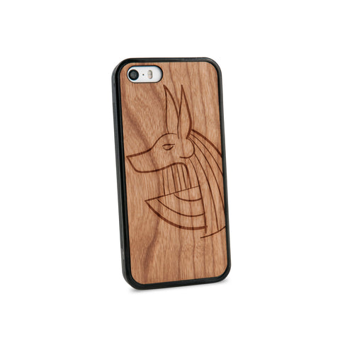 Anubis Natural Wooden iPhone 5/5S Case in American Cherry Wood