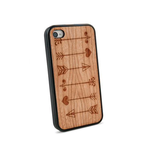 Arrows Multiple Natural Wooden iPhone 4/4S Case in American Cherry Wood