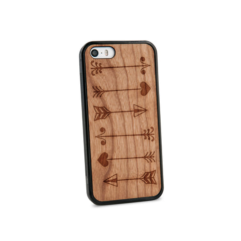 Arrows Multiple Natural Wooden iPhone 5/5S Case in American Cherry Wood