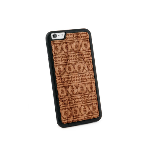 Africa Pattern Natural Wooden Iphone 6+ Case in American Cherry Wood