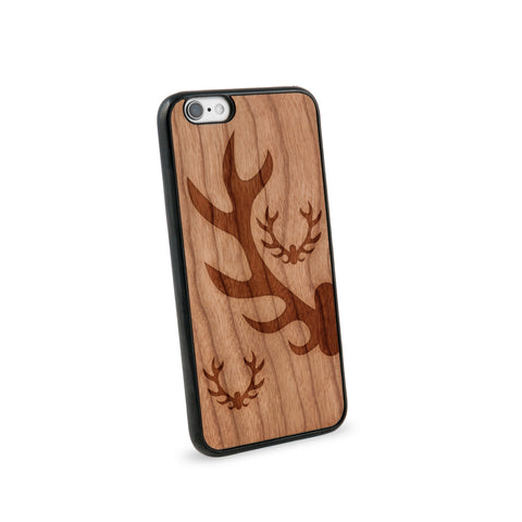 Antlers Natural Wooden iPhone 6 Case in American Cherry Wood
