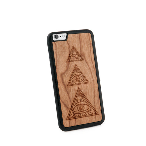All Seeing Eye Natural Wooden Iphone 6+ Case in American Cherry Wood