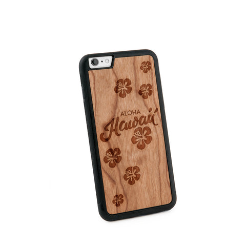 Aloha Hawaii Natural Wooden Iphone 6+ Case in American Cherry Wood