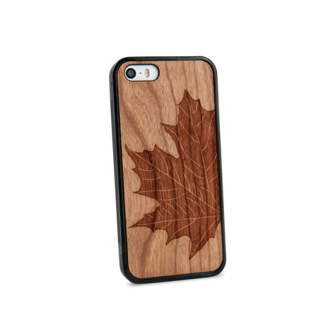 Autumn Leaf Natural Wooden iPhone 5/5S Case in American Cherry Wood