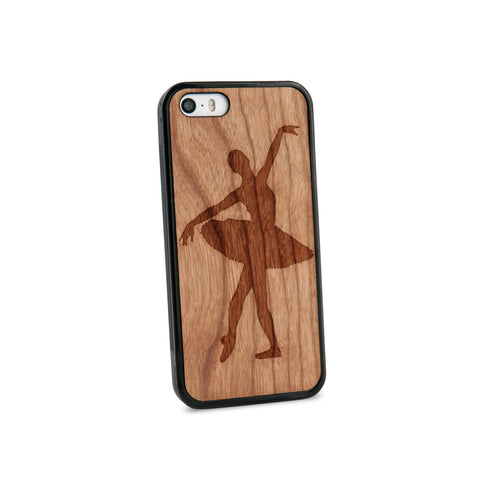 Ballerina Natural Wooden iPhone 5/5S Case in American Cherry Wood