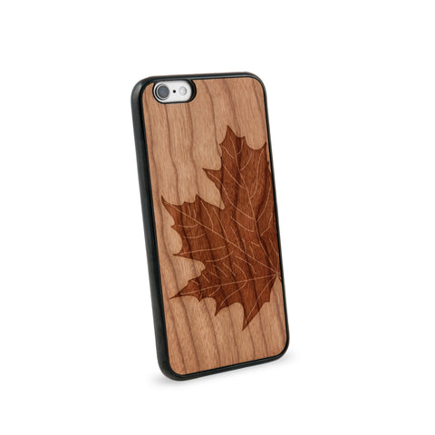 Autumn Leaf Natural Wooden iPhone 6 Case in American Cherry Wood