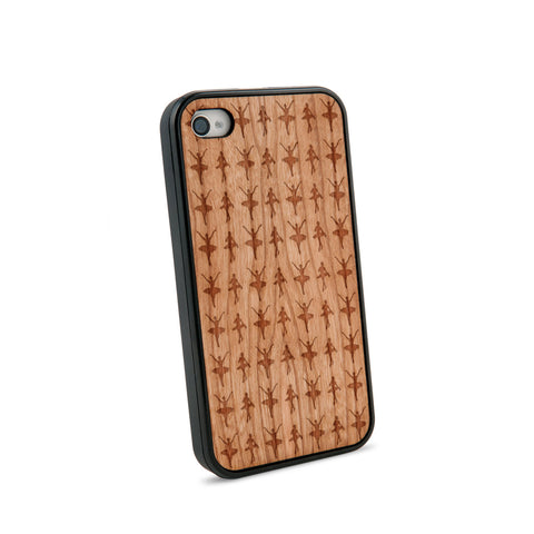 Ballerina Multiple Natural Wooden iPhone 4/4S Case in American Cherry Wood