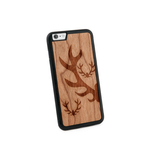 Antlers Natural Wooden Iphone 6+ Case in American Cherry Wood